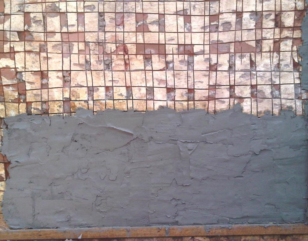 Stone Cladding - Applying Mortar